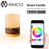 KINCO Smart Bluetooth LED Music Flame-less Candle