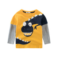 Funny T-REX Face Long-Sleeve T-shirt for Toddler and Kids (2-8Y)