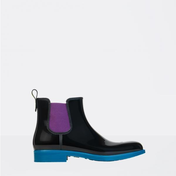 Blue and Black Chelsea Boot