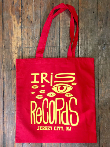 Iris Records Red Tote w. Yellow Print