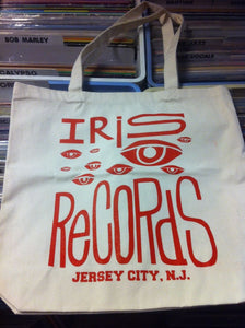 Iris Records Canvas Tote Bag w/ Red Print