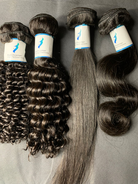 Full Sample Kit - Straight, BodyWave, Mongolian Kinky Curly, Mongolian Deep Wave