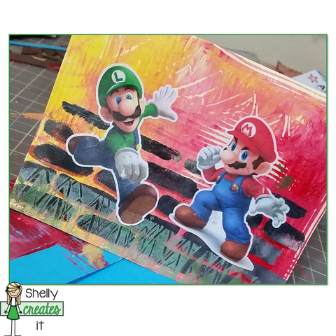 mario brothers card