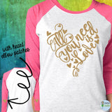All you need is love T-Shirt ADULT - XS / Pink Raglan -