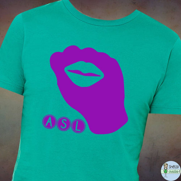 ASL Kiss Fist Tee - XS / Kelly Green - Shirt