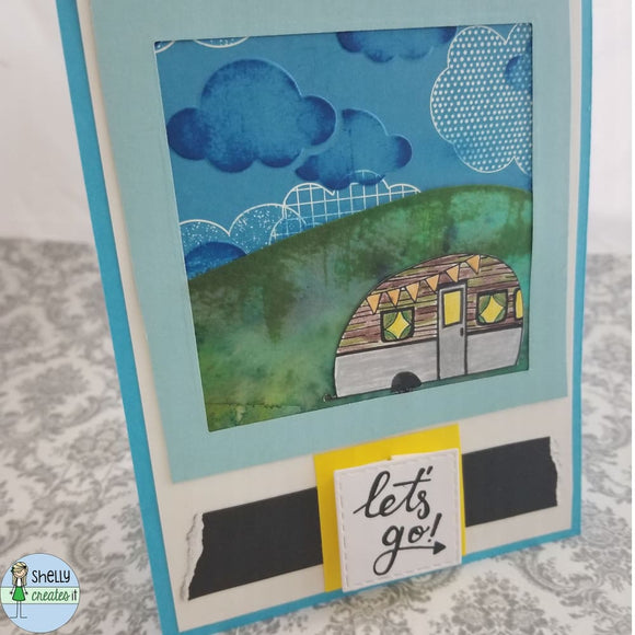 Camping & Adventure Cards - Vertical / Let's Go -window -
