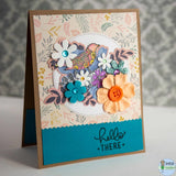Cards for General use - Hello there floral & bird / Vertical