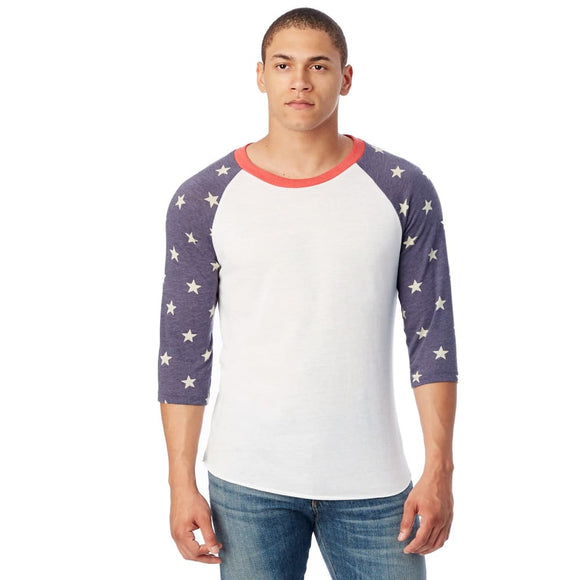 Custom Tee blanks: Star Raglan Design - XL