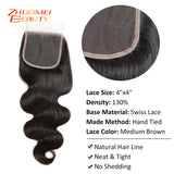 Body Wave Bundles With Closure Brazilian Hair Weave Bundles Natural Color Human Hair 3 Bundles With Closure Remy Hair Extension