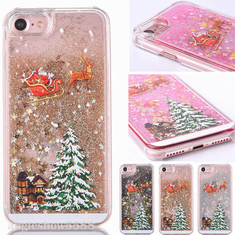 Christmas 3D Glitter Phone Case Cover