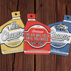 Champ's Speedshop - Air Re-Freshener 3 Pack