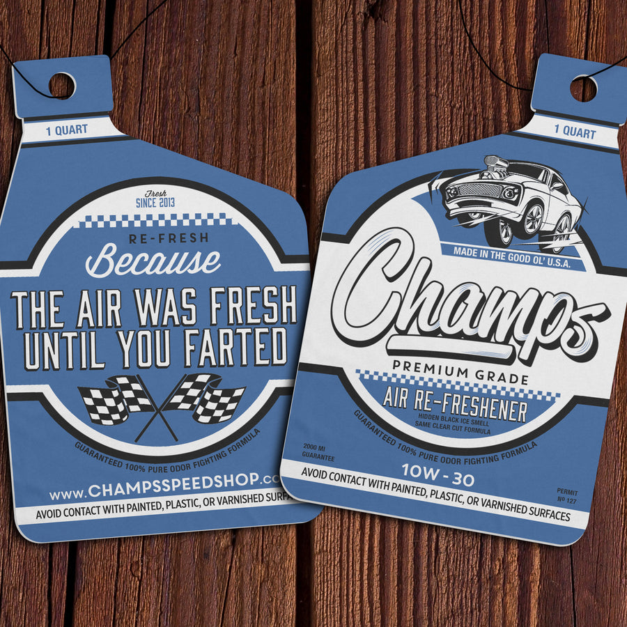 Champ's Speedshop - Black Ice Air Re-Freshener