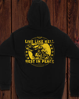 Champ's Speedshop - Live Like Hell, Rest In Peace Hoodie
