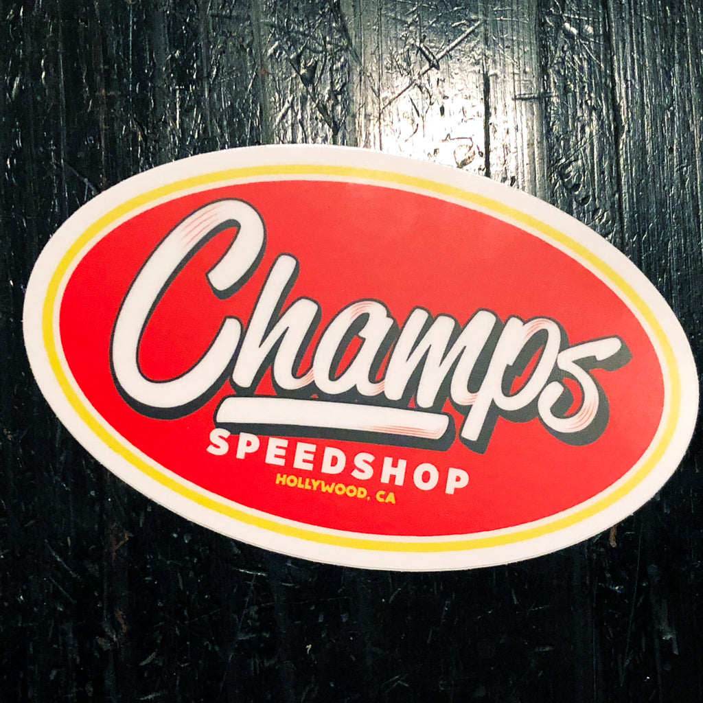 Champ's Speedshop - Matte Vinyl Sticker 4.8