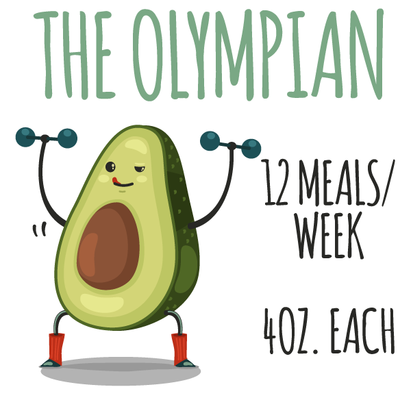 The Olympian (12 Meals/week) - 4 oz. Meal Subscription