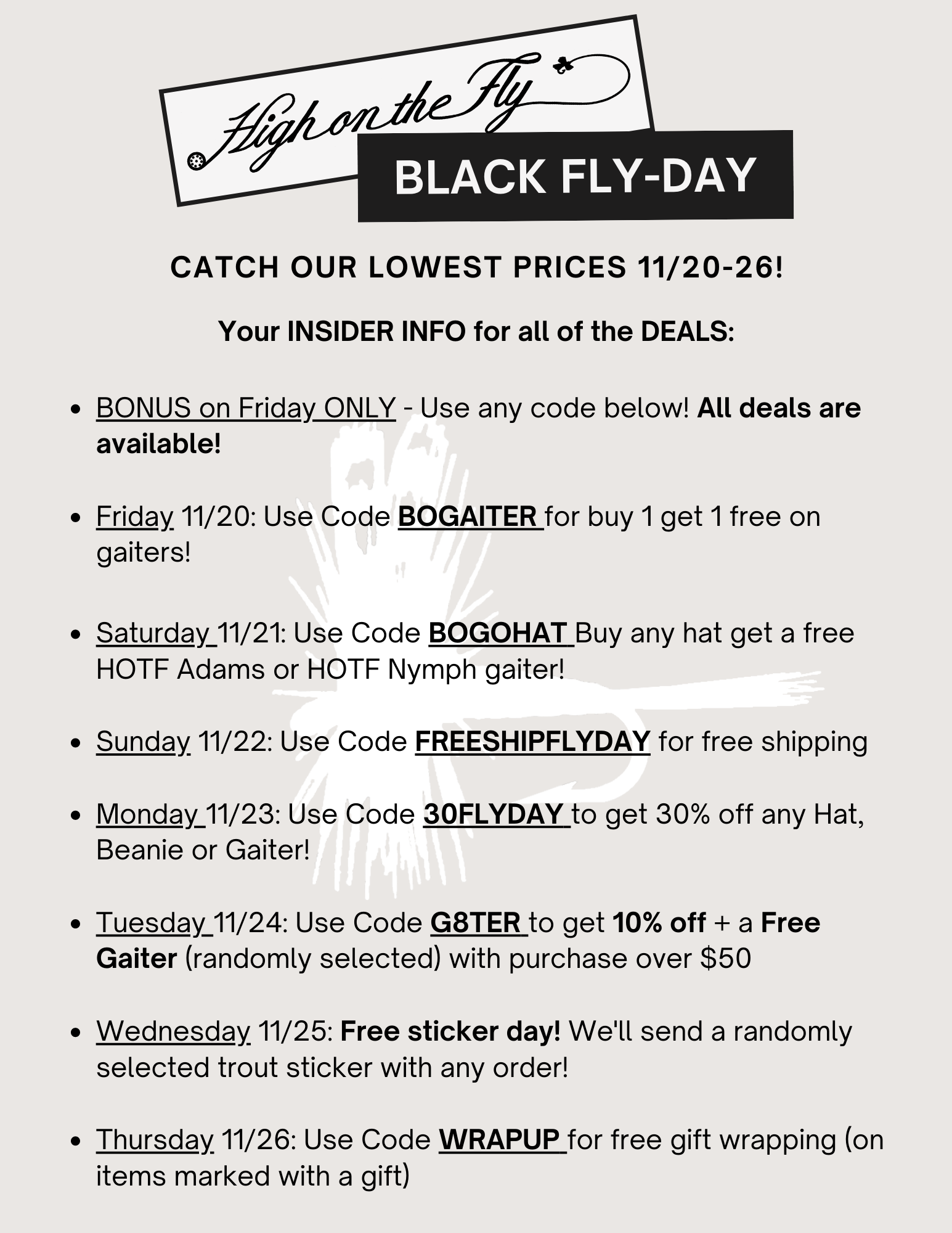 Black Fly-Day (friday) Deals