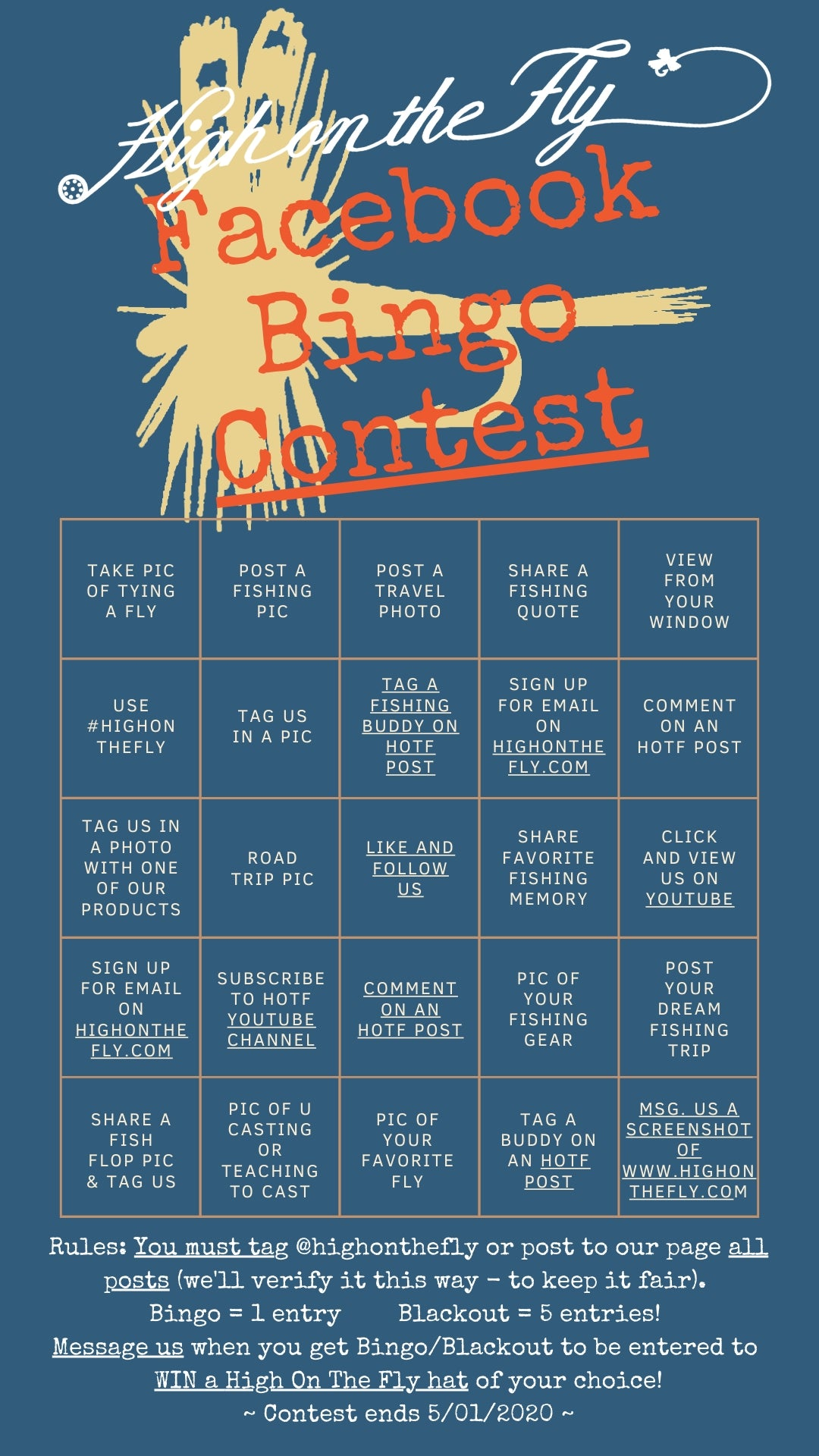 High On The Fly Facebook Bingo Contest