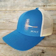 Blue Adams Fly fishing hat
