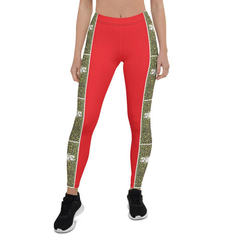 Fly Brook Leggings, Red