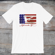 US Flag Art tee