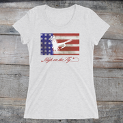 Ladies' US Flag Art tee