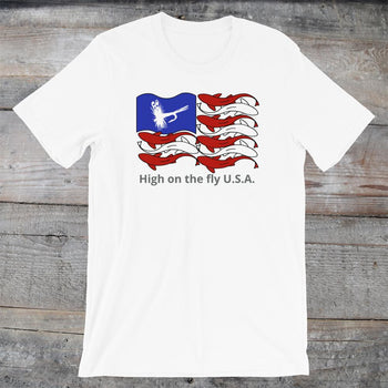 Fly Fish Flag unisex shirt