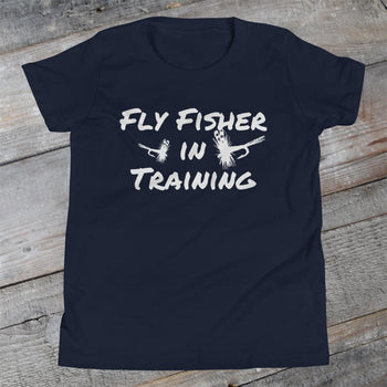 Fly Fisher in Training - Youth Short Sleeve T-Shirt