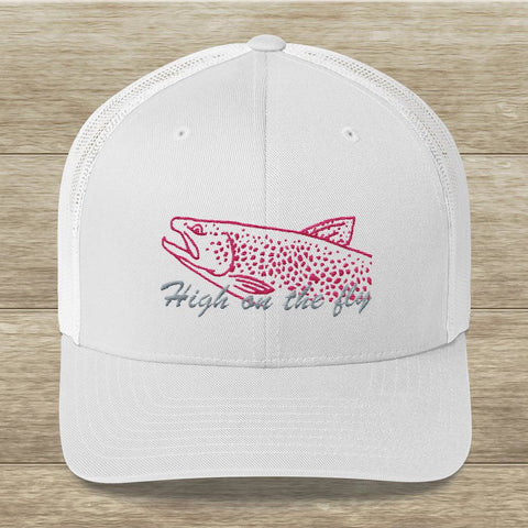 FLY Fish Pink Trout Trucker Hat