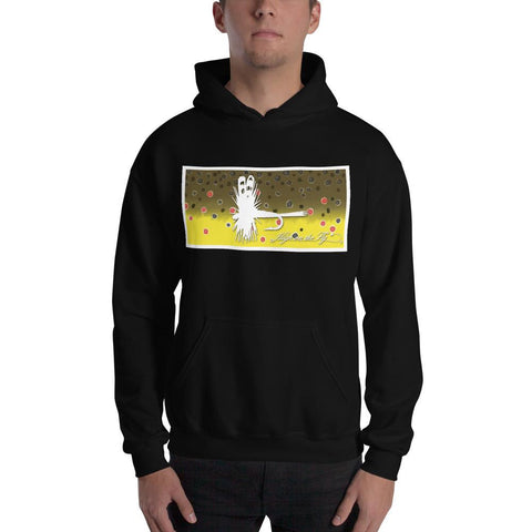 Brown Trout, Hooded Sweatshirt