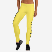 Haunted By Waters Leggings, Yellow