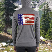 High on the Fly U.S.A. Unisex zip hoodie