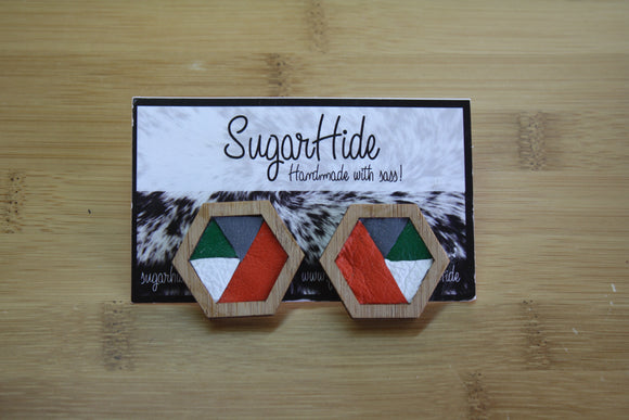 Geometric Bamboo Earrings