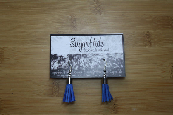 SALE! Royal Blue Drop Tassel Earrings