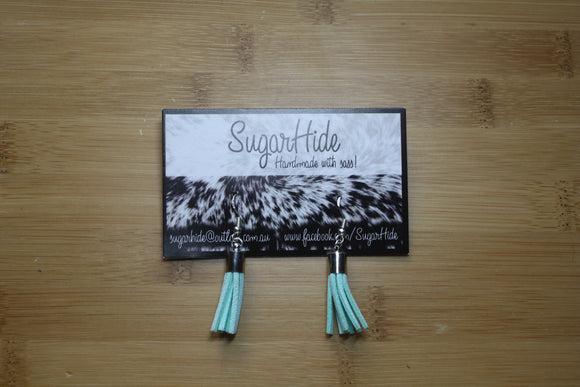 SALE! Light Blue Drop Tassel Earrings