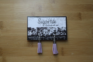 SALE! Lilac Drop Tassel Earrings