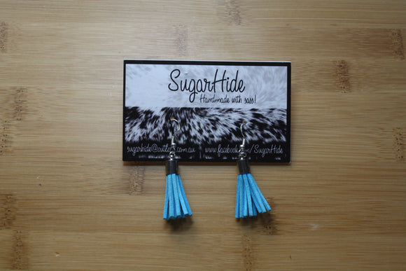 SALE! Blue Drop Tassel Earrings