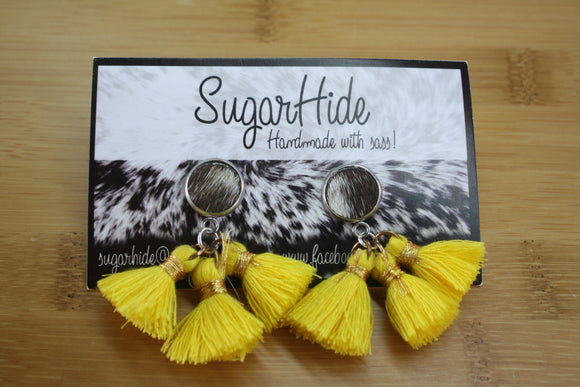 Cotton Tassel Earrings