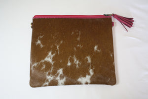 Large Cowhide Clutch