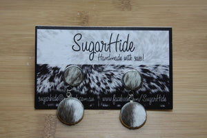 SALE! Cowhide Duet Earrings