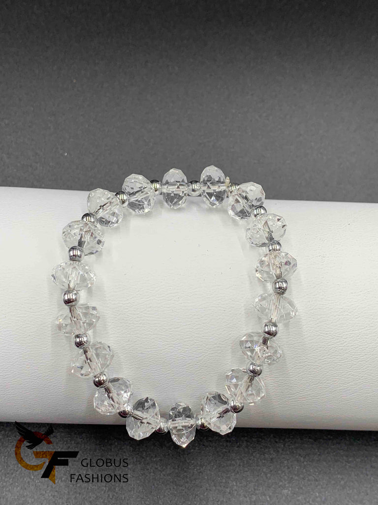 White crystal simple beads Bracelet
