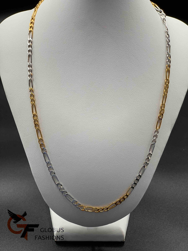 Silver and gold mixed chain