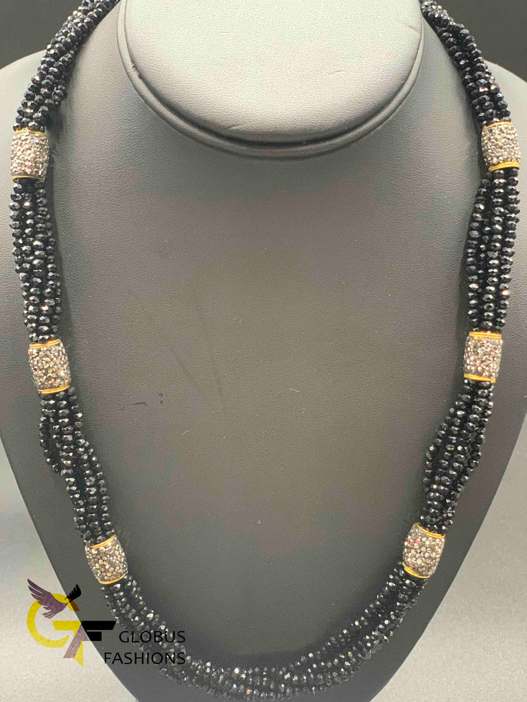 Bunch of black beads chain set