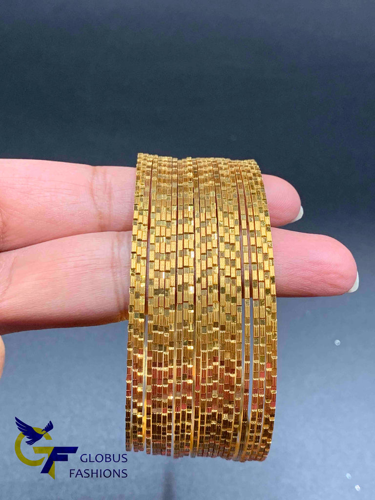 Gold shine set of 24 bangles