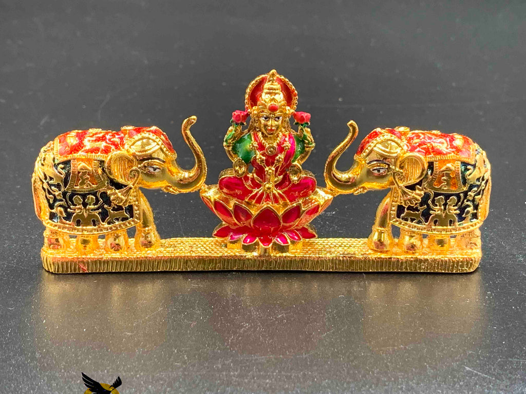 Beautiful Lakshmi Devi with elephants idol