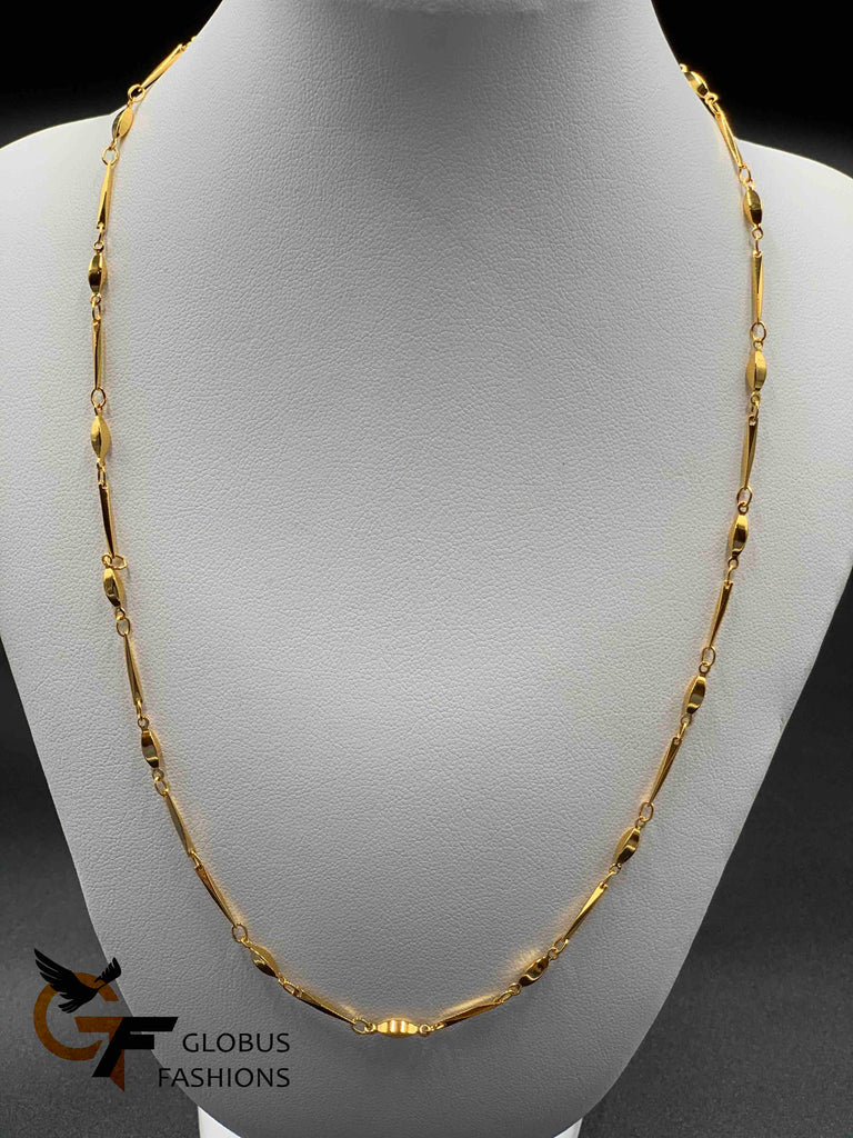 Plain simple design gold chain