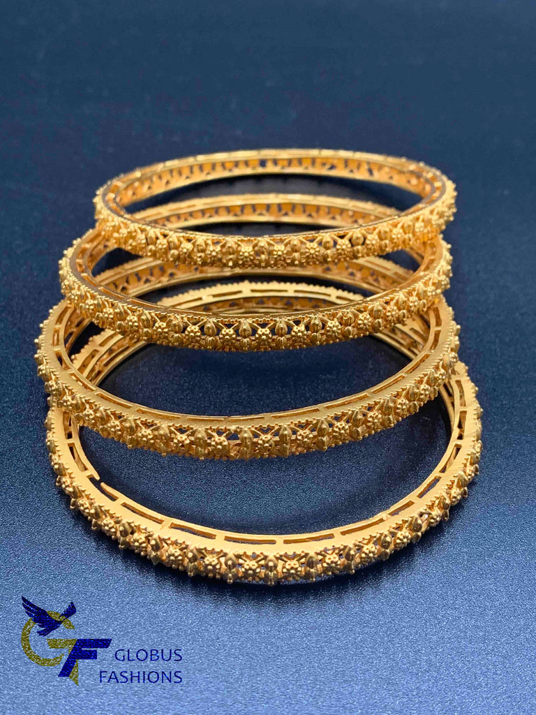 Traditional and antique look set of four bangles