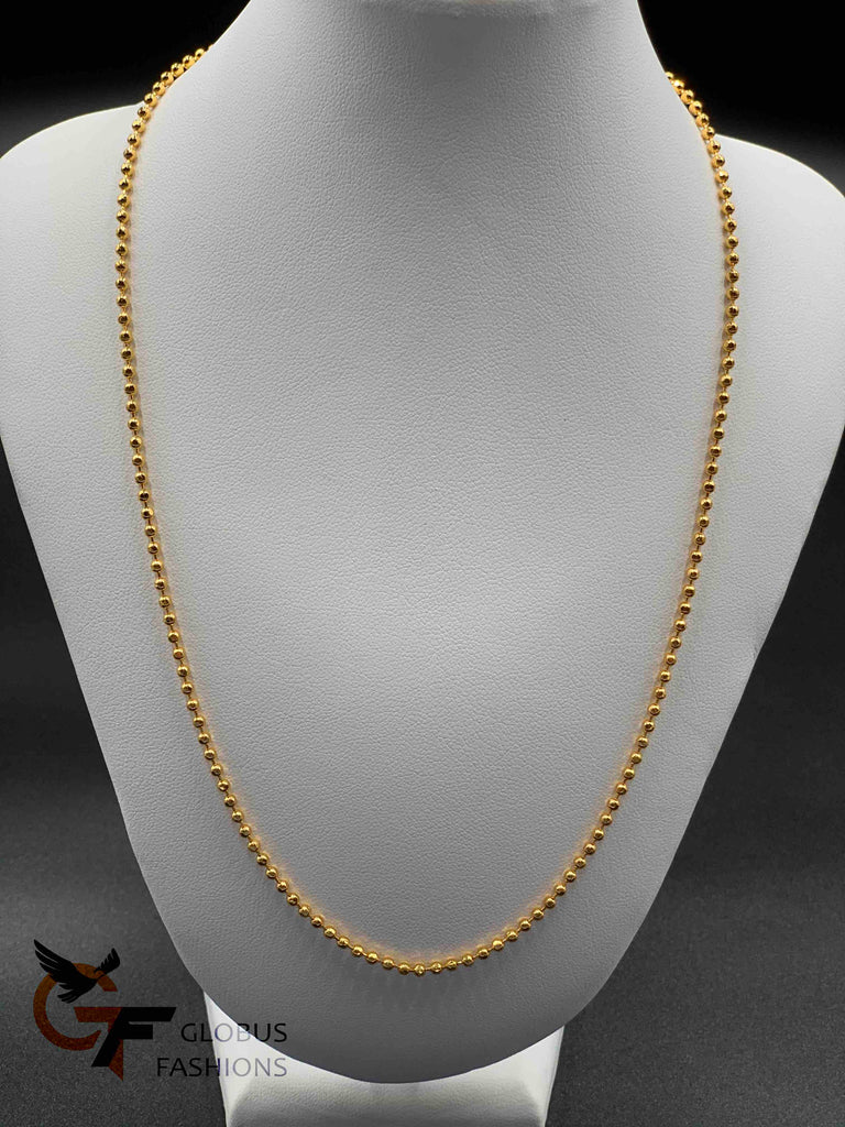 Simple Gold beads plain chain