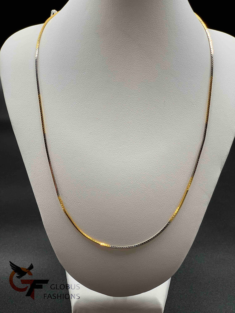 Gold with silver mixed chain