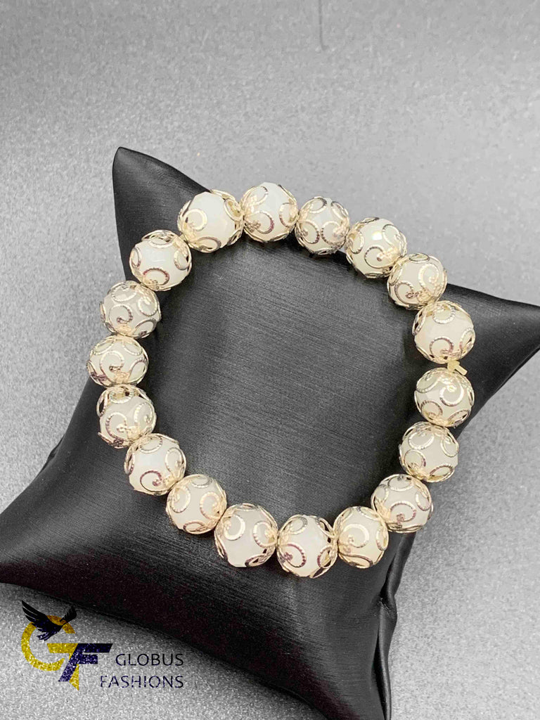 White Crystal Beads Chain bracelet