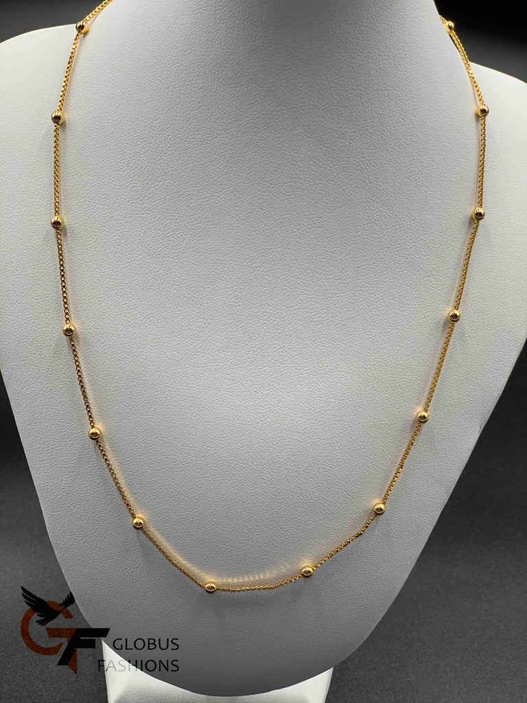 Gold balls bead plain chain